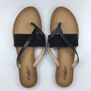 Black & Tan Lucky Brand Sandals NWOT